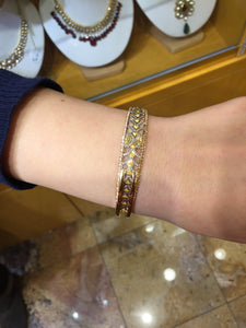 22k 22ct Solid Gold ELEGANT Luxurious Ladies Bangle Modern Design b1006 | Royal Dubai Jewellers