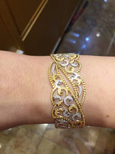 22k 22ct Solid Gold ELEGANT Luxurious Ladies Bangle Modern Design b1008 | Royal Dubai Jewellers