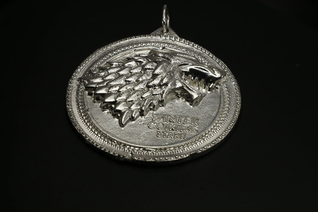 Game Of Thrones House Of Stark Medallion Pendant | Royal Dubai Jewellers