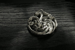 Game Of Thrones House of Targaryen Silver Pendant