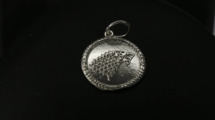 Game Of Thrones House Of Stark Coin Pendant Winter is Coming | Royal Dubai Jewellers