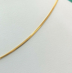 22k Chain Solid Gold Simple Elegant Square V shape Link Design C3455