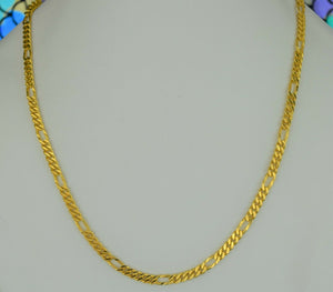 22k Chain Solid Gold Simple Elegant Long Curb Link Design C3324 - Royal Dubai Jewellers