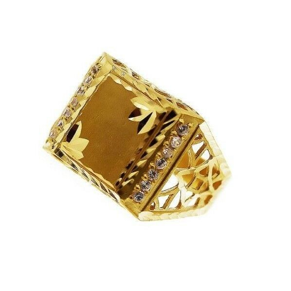 22k 22ct Solid Gold ELEGANT Charm Mens Simple Ring SIZE 11.5