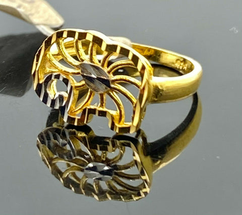 22k Ring Solid Gold Children Jewelry Simple Geometric Elephant Design R2181z