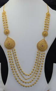 22k Bridal Set Beautiful Solid Gold Ladies Traditional Long Set Design LS1028