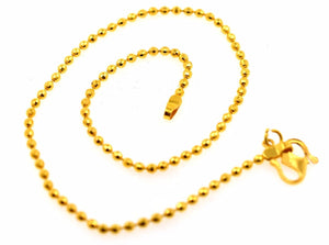 22k 22ct Solid Gold EXQUISITE WOMEN SMALL BALL DESIGNER ANKLET LGHT 9.9in B598 | Royal Dubai Jewellers
