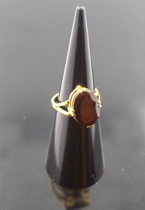 22k 22ct Solid Gold ELEGANT GOMED HESSONITE Ring BAND