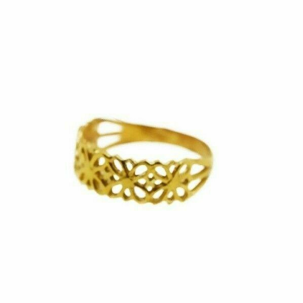 22k Ring Solid Gold ELEGANT Charm Ladies Floral Ring SIZE 8