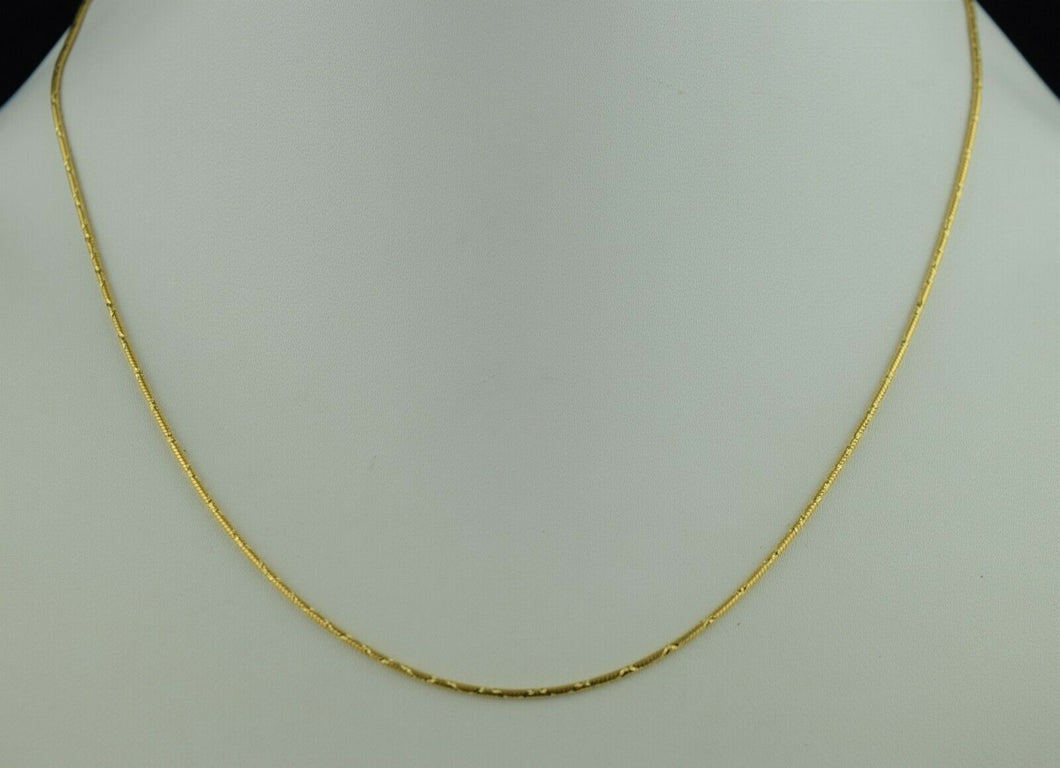 22k Chain Solid Gold Simple Elegant Snake Link Design C0109
