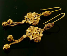 22k Bridal Set Beautiful Solid Gold Ladies Elegant Filigree Design LS1029 - Royal Dubai Jewellers