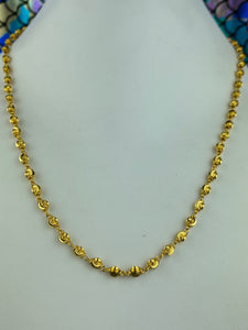 22k Chain Solid Gold Ladies Jewelry Simple Infinity Beads Design C0247 - Royal Dubai Jewellers