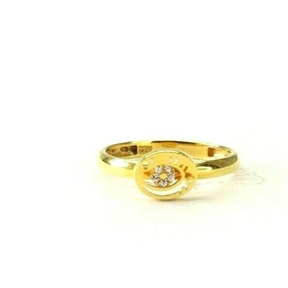 22k Ring Solid Gold ELEGANT Charm Ladies Simple Ring SIZE 4.5