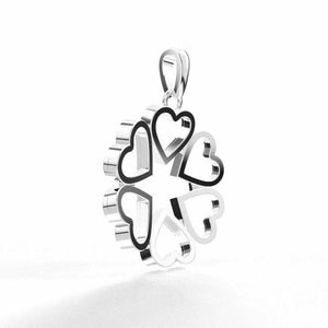 18k Solid White Gold Ladies Jewelry Elegant Infinity Heart Pendant CGP23W