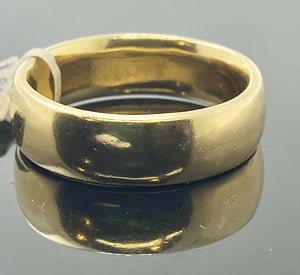 22k Ring Solid Gold Men Simple High Polished Gloss Design R2331zz