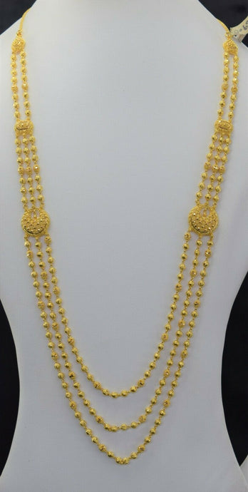 22k Bridal Set Beautiful Solid Gold Ladies Traditional Long Set Design LS1022