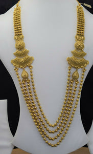 22k Bridal Set Beautiful Solid Gold Ladies Traditional Long Set Design LS1032