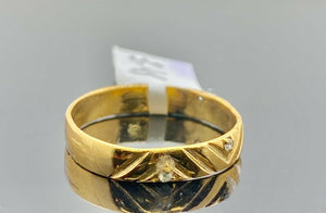 "22k Ring Solid Gold ELEGANT Charm Ladies Band SIZE 7.75 ""RESIZABLE"" r2938mon"