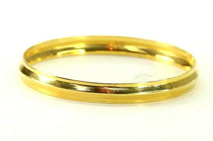 22k Bangle Solid Gold Simple Children Plain High Polished Kara Bangle cb1307