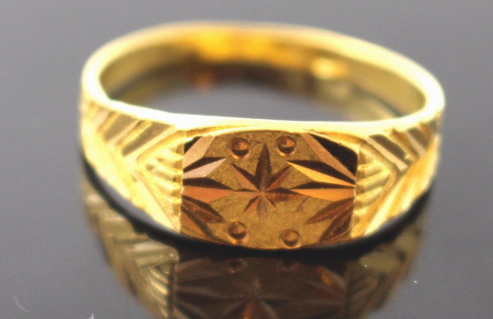 22k 22ct Solid Gold ELEGANT MENS Ring BAND SIZE 9.2