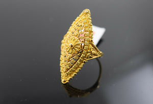 22k Ring Solid Gold Ring Ladies Jewelry Classic Filigree Design R1735