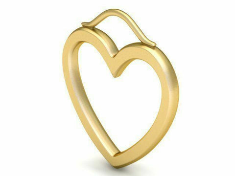 22k Pendant Solid Yellow Gold Ladies Jewelry Elegant Heart Shape Design CGP17