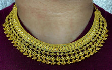 22k Necklace Set Beautiful Solid Gold Ladies Modern Filigree Design LS1008