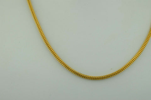 22k Chain Solid Gold Ladies Jewelry Simple V Shape Links Design C0160 - Royal Dubai Jewellers