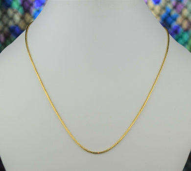 22k Chain Solid Gold Simple Elegant Glossy Snake Link Design C3490