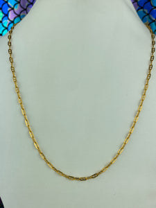 22k Chain Solid Gold Ladies Jewelry Simple Cable Design C801b - Royal Dubai Jewellers