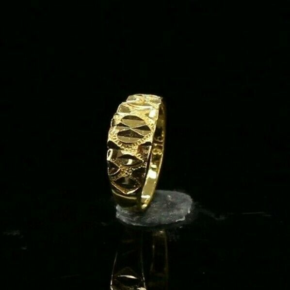 22k Ring Solid Gold ELEGANT Charm Simple Kids Ring SIZE 1.25