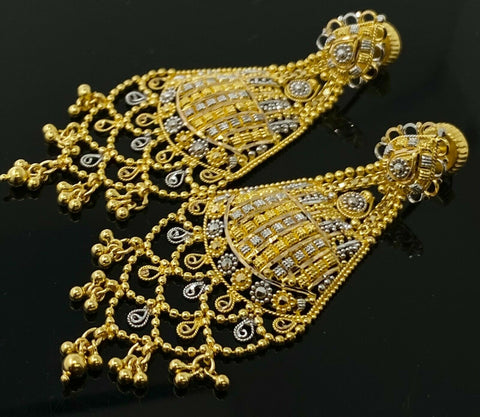 22k Necklace Set Beautiful Solid Gold Ladies Modern Filigree Design LS1012