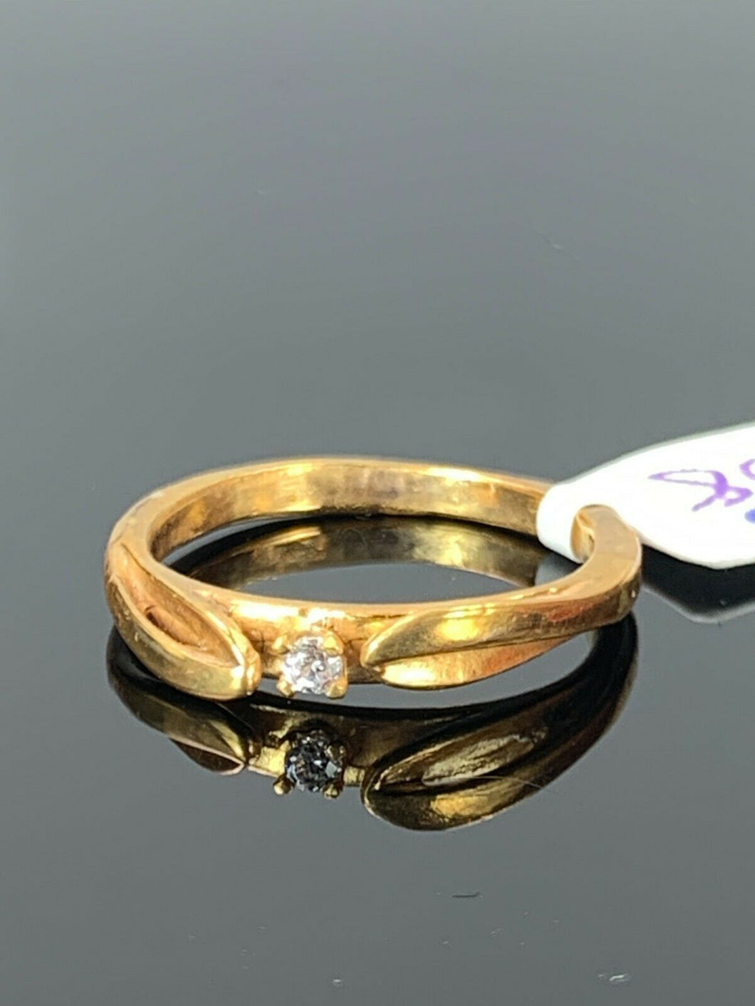 22k Ring Solid Gold ELEGANT Charm Simple Band SIZE 5.50