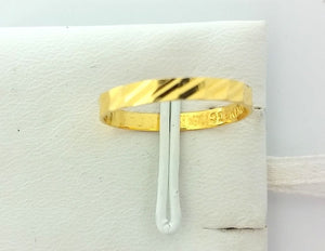 22k Jewelry Solid Gold Ring Size 6.25 custom size available Modern Design 207 MF | Royal Dubai Jewellers