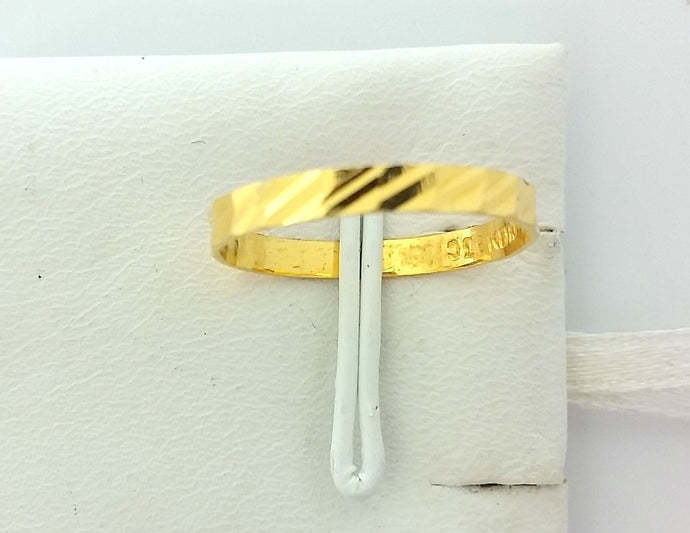 22k Jewelry Solid Gold Ring Size 6.25 custom size available Modern Design 207 MF