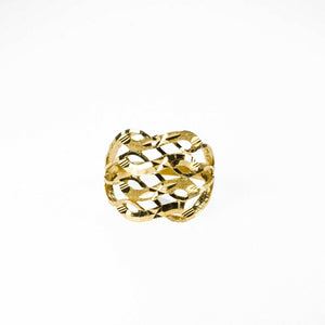 22k Ring Solid Gold Men Jewelry Simple Diamond Cut Geometric Design R2005
