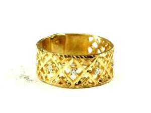 "22k Ring Solid Gold ELEGANT Charm Ladies Band SIZE 7.5 ""RESIZABLE"" r2578mon"