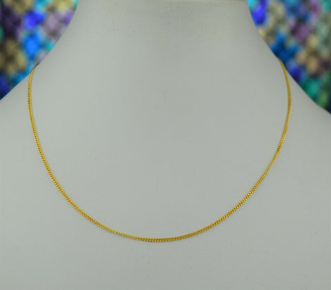 22k Chain Solid Gold Simple Elegant V Shape Design C3480