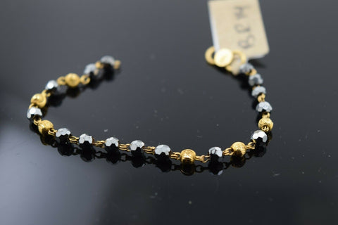 22k Solid Gold ELEGANT BABY CHILDREN BRACELET Simple two tone Design br13
