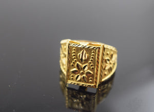 "22k 22ct Solid Gold ELEGANT STONE Ring ""RESIZABLE"" R426 size 10"