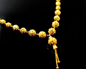 22k Yellow Solid Gold Chain Necklace Diamond Cut Ball Design Length 30 inch c831