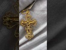 22k Pendant Solid Gold Elegant Simple Cross With Diamond Cutting Design P928