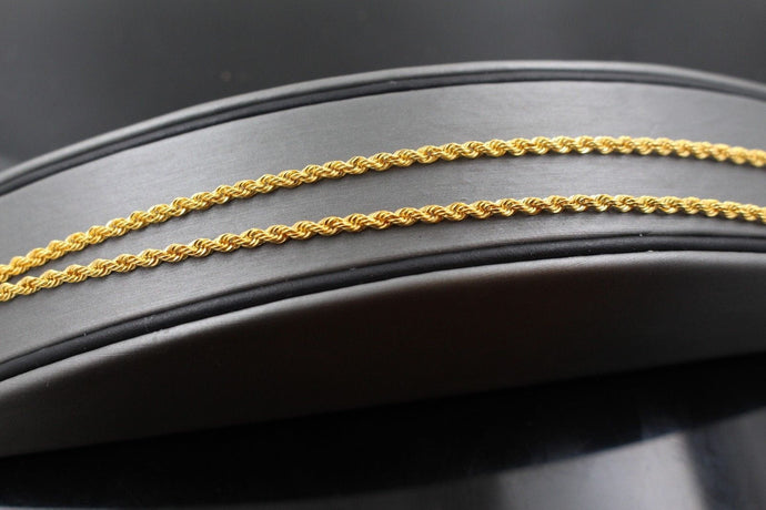 22k Gold Yellow 22ct Elegant Chain Simple Rope Design Length 18 inch c590a