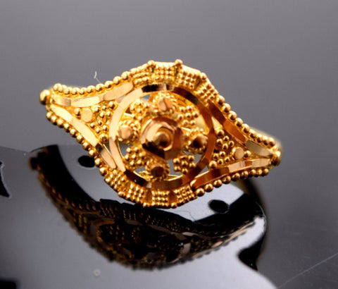 "22k Jewelry Solid Gold ELEGANT Ring Classic Design ""RESIZABLE"" R528"