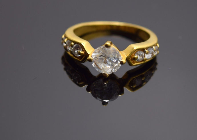 22k 22ct Solid Gold ELEGANT SOLITAIRE STONE Ring BAND