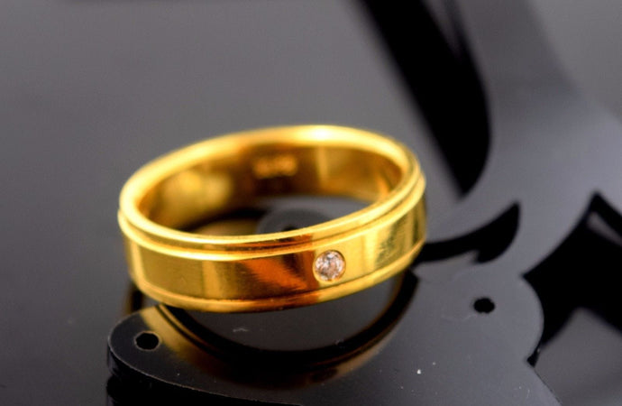 22k Solid Gold ELEGANT MEN Ring Band Exquisite Design