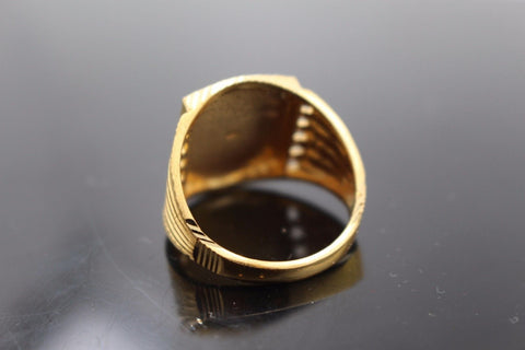 "22k 22ct Solid Gold ELEGANT Charm Mens Ring SIZE 10 ""RESIZABLE"" r9999"
