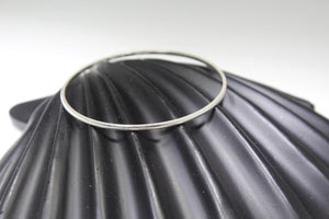 1PC HANDMADE women b86 Solid Sterling Silver 925 size 2.25 inch kara Bangle Cuff