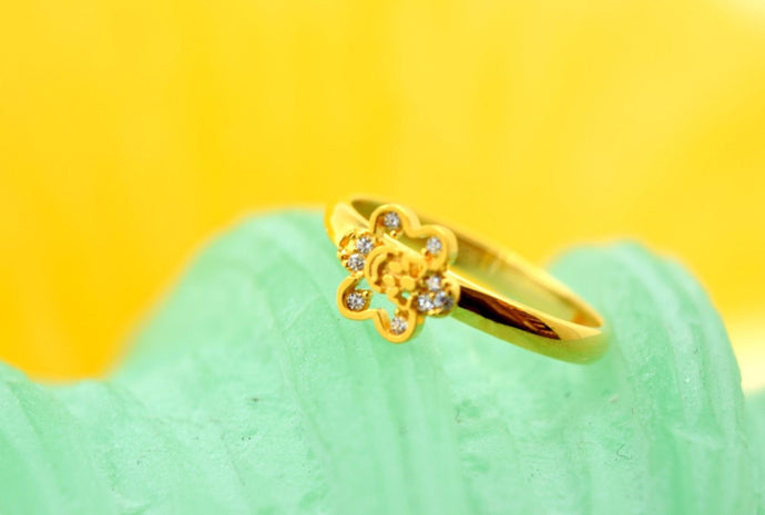 22k 22ct Solid Gold CUTE FLOWER ELEGANT BABY KID Ring