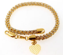 22k GOLD DESIGNER SNAKE SKIN ROPE STYLE CHARMS LADIES BRACELET B882 | Royal Dubai Jewellers